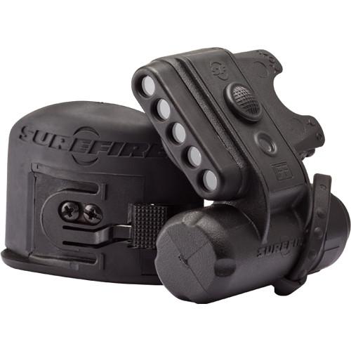 SureFire HL1 Multi-Use High-Performance LED HelmetLight – Black Body, 3 White, 2 Blue, 1 Infrared IFF