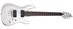 Schecter 438 C-7 Deluxe 7 String Solid-Body Electric Guitar, Satin White