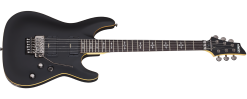Schecter 3661 DEMON-6 FR Solid-Body Electric Guitar, Aged Black Satin