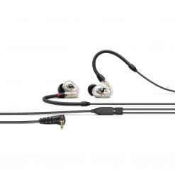 Sennheiser IE 40 Pro ClearIn-ear monitoring headphones featuring SYS 10 dynamic transducer and 1.3m cable. Includes (1) IE 40 PRO clear with 3.5mm jack, (1) soft pouch, (1) set of silicone ear adapters (S,M,L), (1) set of foam ear adapters (S,M,L) and (1