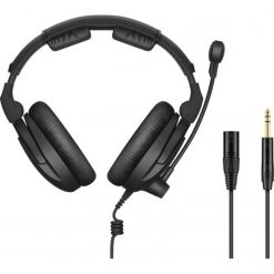 """Sennheiser HMD 300 XQ-2Broadcast headset with ultra-linear headphone response (dual sided, 64 ohm), microphone (hyper-cardioid, dynamic) and modular cable with XLR 3 and 1/4"""" jack. Includes (1) HMD 300 PRO headset, (1) wind and pop screen and (1) cable X"""