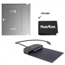 Angelbird ATOM X SSDmini 1 TB External Solid State Drive with  Atomos Usb-C 3.1 Powered Docking Station