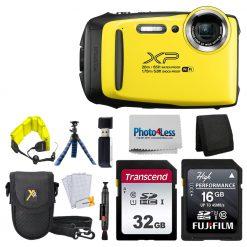 Fujifilm XP140 Yellow  Bundle W/ SD Card