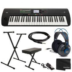 Korg i3 61-Key Music Workstation (Rubberized Matte Black) + Accessories