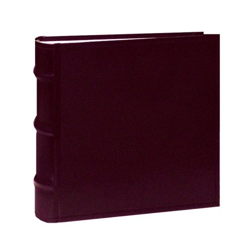 Pioneer Photo Albums Sewn Bonded Leather Book Bound Bi-Directional Album (Burgundy)