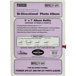 "Pioneer Photo Album 5""X7"" 20 Photo Refill For Aps247 Refill"