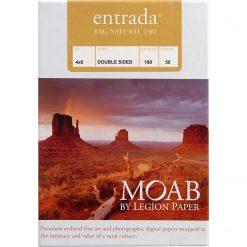 Moab Papers Entrada Rag Natural 190 4 x 6 [50 sheets]