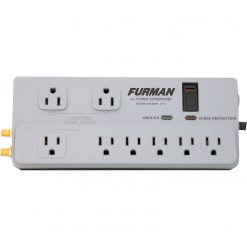 Furman PST-2+6 15A AC Strip 8 Outlets, Plastic Chassis, 8Ft Cord, UL1449 Standard Surge Protection