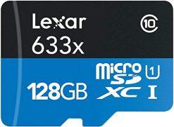 Lexar 128GB High-Performance 633x UHS-I microSDXC Memory Card with SD Adapter