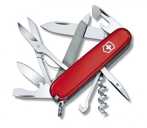 Victorinox Swiss Army Mountaineer Pocket Knife Multi-Tool, Red