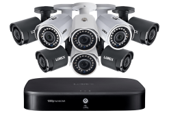 Lorex 8-Channel Wired/ Wireless System with 4 Wireless and 4 HD 1080p Resolution Security Cameras