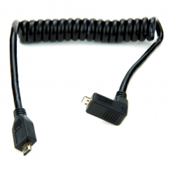 """Atomos Right-angle Micro To Micro HDMI Coiled Cable (11.8 To 17.7"""")"""
