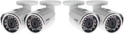 Lorex 1080p HD Weatherproof Night-Vision Series Wired Security Camera, 4 Pack