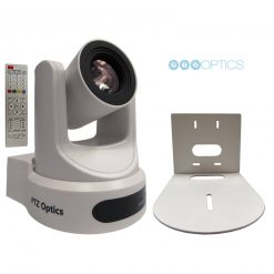 PTZOptics 20X-NDI-WH Broadcast and Conference  Camera,White+ Wall Mount Bracket