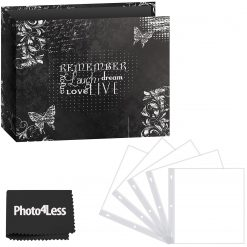 "Pioneer Photo Album 12""X12"" 3-Ring Binder Scrapbook 3-Ring Binder Printed ""Chalkboard Design ""Remember"" + Refill Pages + Cloth"