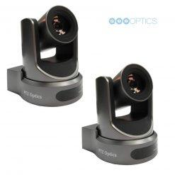 PTZOptics 12S-USB Video Conferencing Camera, Gray- 2 Pack