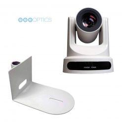 "PTZOptics 20x-USB Gen 2 Live Streaming Camera, White + Pole Mount for 1"" Pipe"