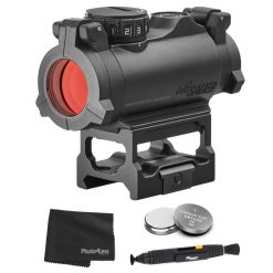 Sig Sauer ROMEO-MSR Sealed Compact Green Dot Sight + 2 Additional Batteries and Lens Cleaning Kit