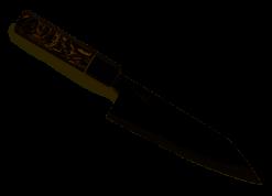 "Spyderco Itamae Bunka Bocho Premium Kitchen Knife with 7.72"" SUS410 Super Blue Stainless Steel Blade and Burl G-10 Handle - PlainEdge - K18GPBNBK"