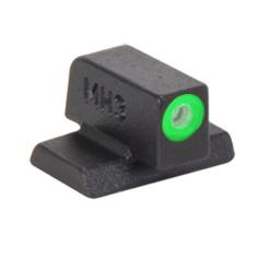 MEPROLIGHT Hyper-Bright Self Illuminated Fixed Night Sight Front for S&W M&P - Green Ring