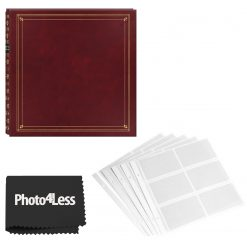 Pioneer 4x6 Full Size Burgundy Photo Album 300 Page + Refill Pages + Cloth
