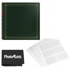 Pioneer 4x6 Full Size Green Photo Album 300 Page + Refill Pages + Cloth