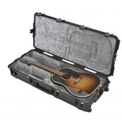 SKB iSeries Waterproof  Acoustic Guitar Case with Wheels (Black) (3i-4217-18)