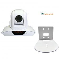 HuddleCamHD 10XA 1080p PTZ Camera with Built-In Audio (White)+HuddleCamHD HCM-1 Small Universal Wall Mount Bracket