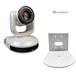 HuddleCamHD 10X Optical Zoom 10X-WH-G3 Camera- White+HuddleCamHD HCM-1 Small Universal Wall Mount Bracket