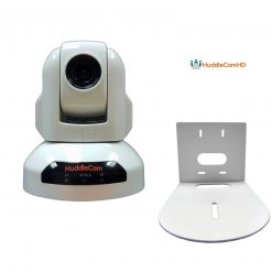 HuddleCamHD 3X Gen2 USB 2.0 Conferencing Camera (White)+ HuddleCamHD HCM-1 Small Universal Wall Mount Bracket for Select Cameras, White