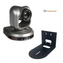 HuddleCamHD 10X-GY-G3 PTZ Camera (Gray)+ HuddleCamHD HCM-1 Small Universal Wall Mount Bracket