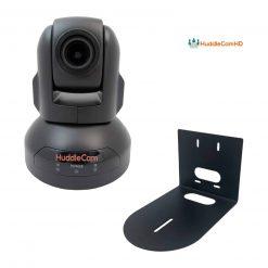 3X Optical Zoom | USB 2.0 | 1920 x 1080p | 74 degree FOV (Black) US Style Power Supply + HuddleCamHD HCM-1 Small Universal Wall Mount Bracket