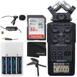 Zoom H6 All Black Recorder + Acc.