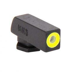 MEPROLIGHT Hyper-Bright Self Illuminated Fixed Night Sight Front for Glock 42, 43, 43X, 48 - Phosphorescent Yellow Ring