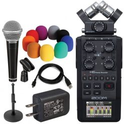 Zoom H6 All Black Recorder + Accessories
