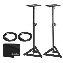 On Stage SMS6000-P Studio Monitor Stand (Pair) + More