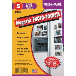 Freez-A-Frame Magnetic Photo Pocket 4 x 6 ( 5 Pack)