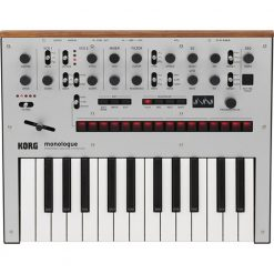 Korg Monologue Monophonic Analog Synthesizer with Presets -Silver (MONOLOGUESV)