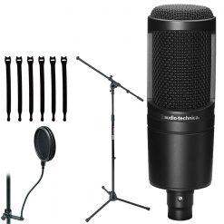 Audio-Technica AT2020 Cardioid Condenser Studio XLR Microphone Black