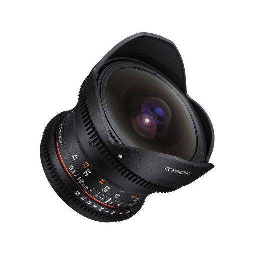 Rokinon Cine DS 12mm T3.1 Ultra Wide Cine Fisheye Lens for Canon EOS EF DSLR Cameras – Full Frame Compatible