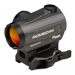 Sig Sauer ROMEO4H 1X20mm Red Dot Sight, Ballistic Circle Quadplex - Graphite