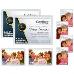 Freez A Frame Clear Magnetic Pockets 8 Pack (2) 8.5 x 11 (2) 5 x 7 (4) 4 x 6