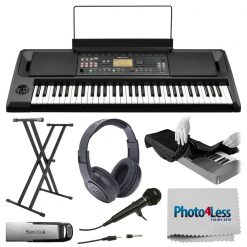 KORG EK50 Entertainer Keyboard + Stand + Flash Drive + Headphones + Microphone