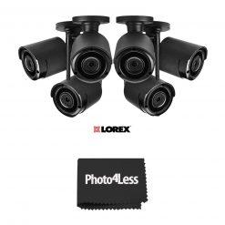 "6 Lorex HD 1080p Outdoor Wireless Security Camera + Hosa Label A Cable Kit 60 Peel Off Labels+  8"" Black UV Resistant Zip Ties"