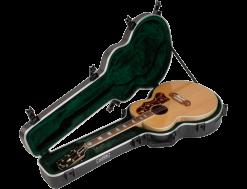 SKB Universal Jumbo Acoustic Shaped Hardshell Guitar Case - TSA Latch, Over-Molded Handle
