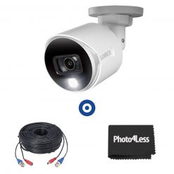 4K Ultra HD Active Deterrence Security Camera with 60ft (18m) Premium 4K RG59/Power Accessory Cable