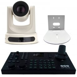 PTZOptics 20X SDI Optical Zoom Live Streaming Broadcasting Camera and Wall Mount+ PTZOptics Superjoy IP & Serial PTZ Joystick Controller
