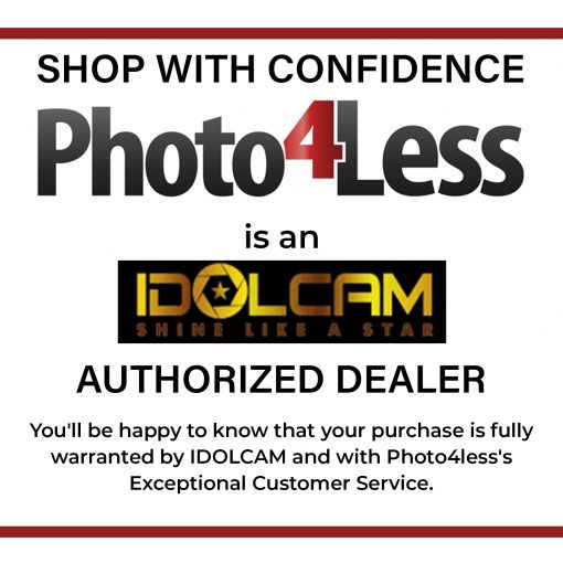 IDOLCAM Silver Package- Wide Angle Len+Beauty Light+Hard Case+Battery+USB