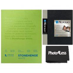 Itoya Art Profolio Original Storage Display Book 9x12 + Stonehenge Pads 9x12 White