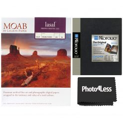 "Itoya Art Profolio Storage Display Book 8.5"" x 11"" + Moab Papers Lasal Photo Matte 235 8.5 x 11"" (50 sheets)"